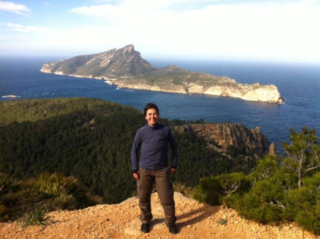 Detrás de mí la isla de Sa Dragonera - Foto de Estefanía Alfonso